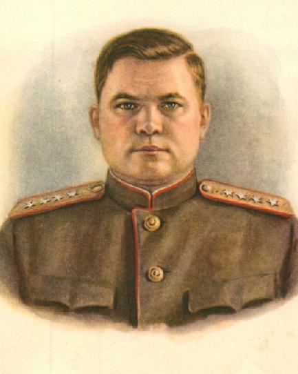 Генерал армии Н.Ф.Ватутин Открытка Худ.Столыгво Воениздат СССР 1950 год