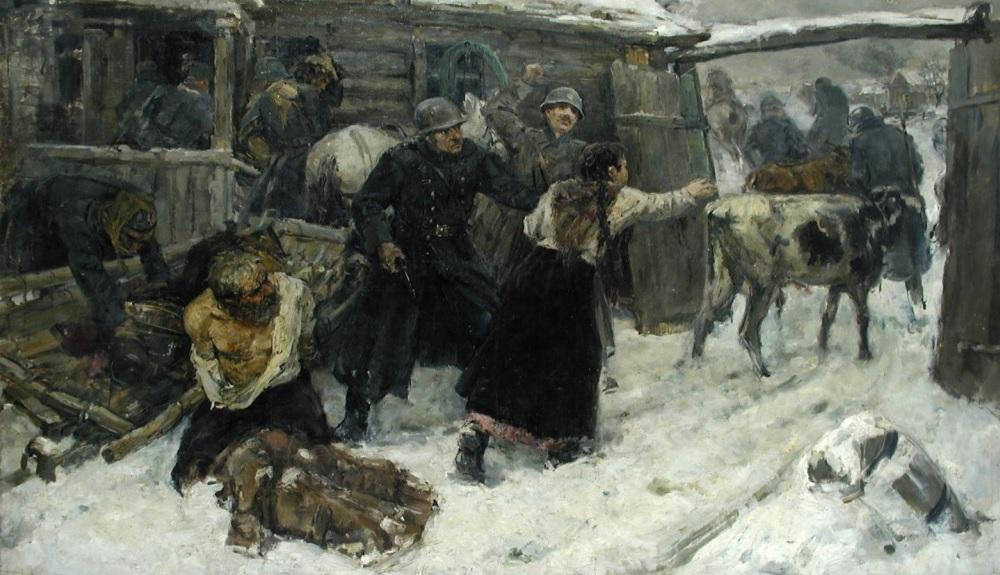 Беленицкий Матвей. Фашисты грабят Беларусь.