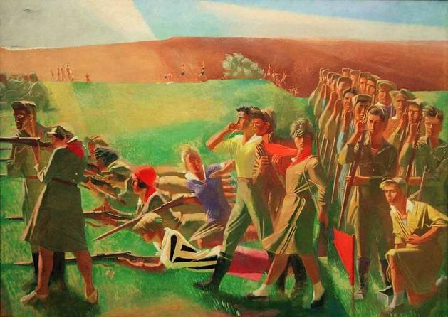 Военизированный комсомол - Александр Самохвалов (1933 год)