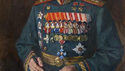 Портрет генерала Батова. Иванов В.И. Холст, масло. Год: 1950 г.