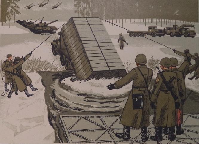 Советские плакаты, армия СССР. ИНЖЕНЕРНЫЕ ВОЙСКА