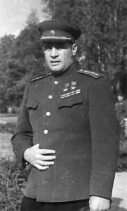 Генерал армии Иван Данилович Черняховский - командующий 3-м Белорусским фронтом. 1944 год