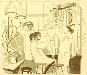 Глебова Эмилия Ивановна (Россия, 1939) «Биохимики» 1964