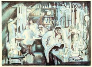 Глебова Эмилия Ивановна (Россия, 1939) «Химики» 1964