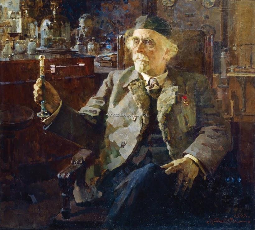 Котов Петр Иванович (1889-1953) «Портрет академика Н.Д.Зелинского» 1947