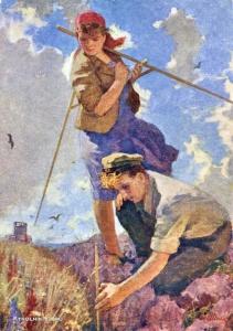 Малаев Федор Петрович (Россия, 1902-1982) «Поднятая целина» 1955