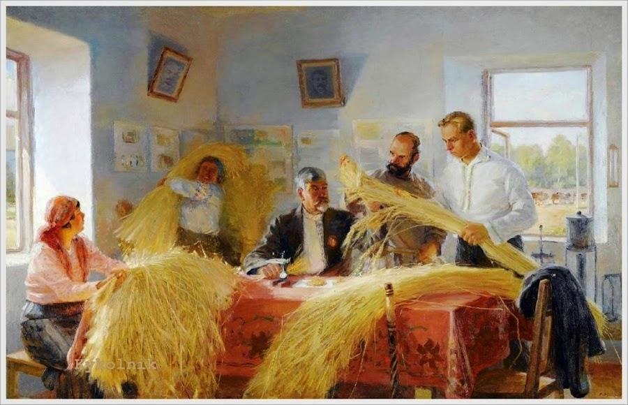Манюков Михаил Николаевич (Россия, 1900-1969) «Колхозная хата - лаборатория»