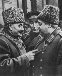 Маршал Толбухин беседует с Георгием Димитровым