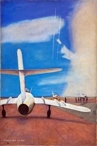 Павлов Юрий Михайлович (Россия, 1935) «Пограничный аэродром» 1964