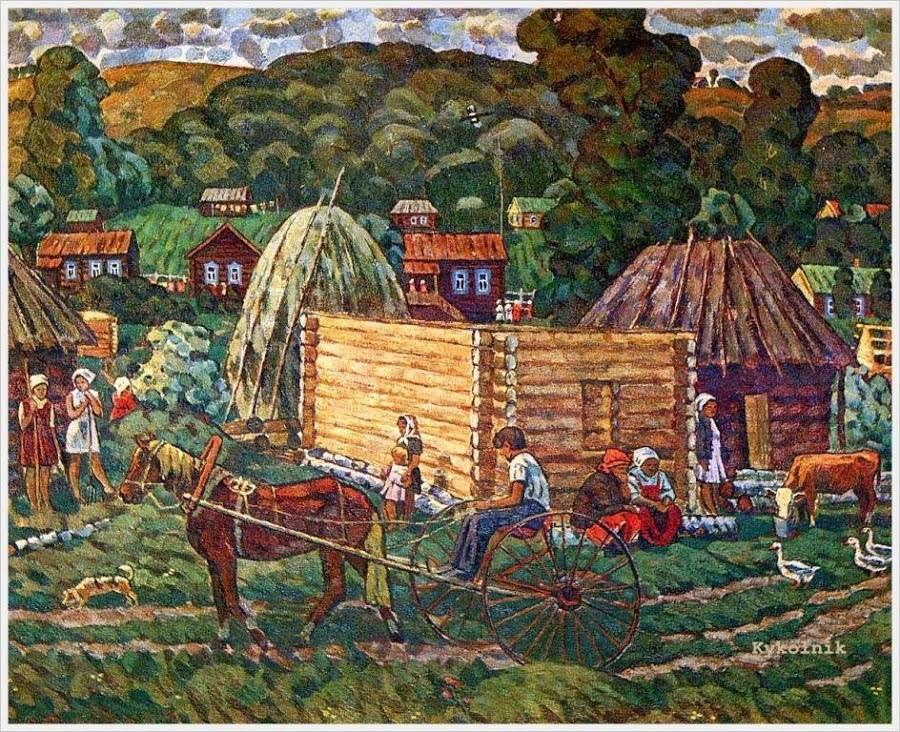 Петряшов Виктор Иванович (Россия, 1942) «Летний день» 1974