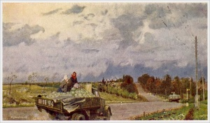 Подляский Юрий Станиславович (Россия, 1923) «С колхозных полей» 1951