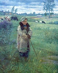 Богданов-Бельский Николай Петрович (1868 - 1945). Пастушок Прошка
