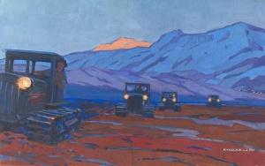 Рейнер Юрий Петрович (Россия, 1911-1973) «Огни в долине» 1961