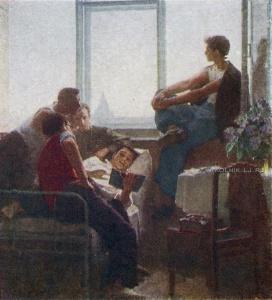 Шильников Сергей Николаевич (Россия, 1922) «Студенты» 1958