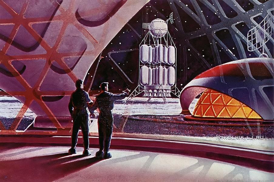 Соколов Андрей Константинович (1931-2007) Леонов Алексей Архипович (1934) «В помещении космодрома»