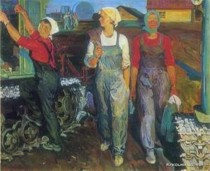 Томенко Григорий Алексеевич (Украина, 1915-1994) «Потомки Паши Ангелиной» 1975