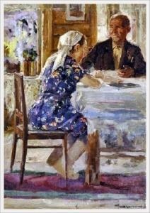 Васин Виктор Федорович (Россия, 1919-1997) «Председатель колхоза» 1947