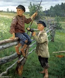 Богданов-Бельский Николай Петрович. Деревенские мальчики, 1936, Государственный музей Латвии, Рига