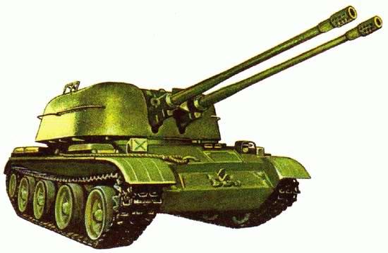 ЗСУ-57-2. Иллюстрация к книге: Исмагилов Р.. Артиллерия и минометы XX века