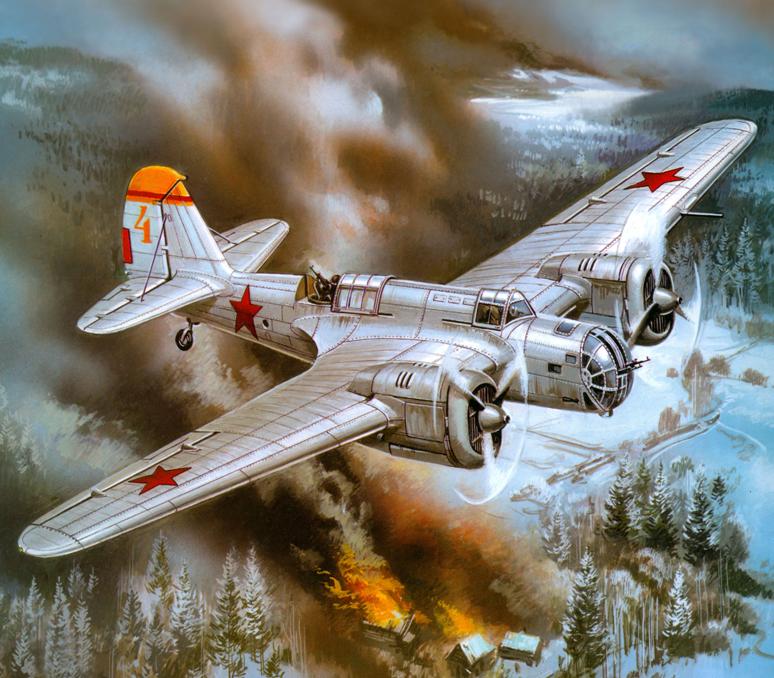 Руденко Валерий. Бомбардировщик СБ-2М-100А.