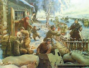 Корнеев Евгений. Фрагмент диорамы «Лобня. Контрнаступление 6 декабря 1941 г.».