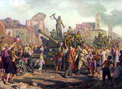 Волков Валентин. Освобождение Минска. 3 июля 1944 года.