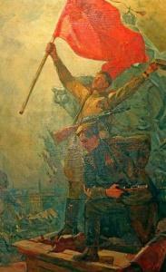 Заря Галина. Красное знамя над Рейхстагом.