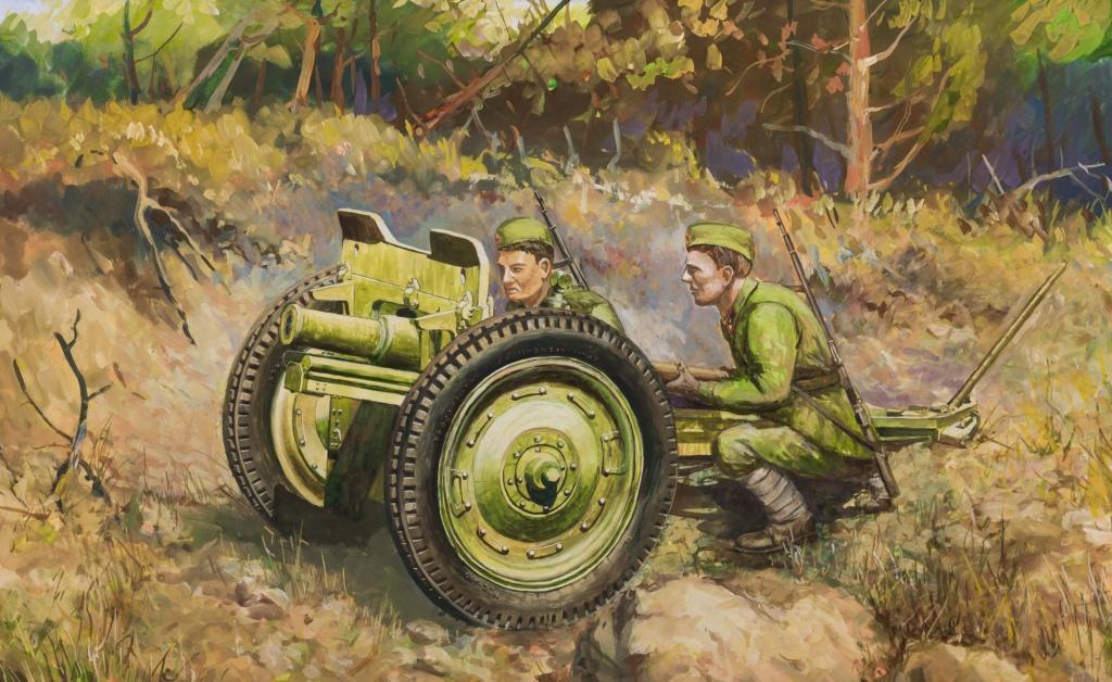 Дудчик Дмитрий. Советская 76-мм полковая пушка.