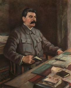 А. Герасимов. И.В. Сталин.