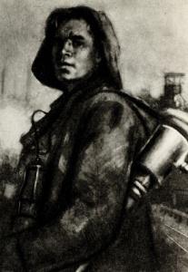 И. А. Лукомский. Рабочий. 1941