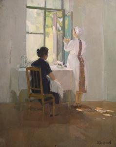 Труфанов Михаил Павлович (1921-1988) «Прививка»