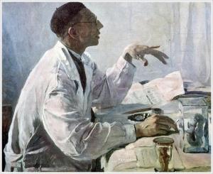 Нестеров Михаил Васильевич (Россия, 1862-1942) «Портрет хирурга С.Юдина» 1935