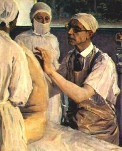 Михаил Нестеров Портрет хирурга С.С. Юдина. 1933 г.
