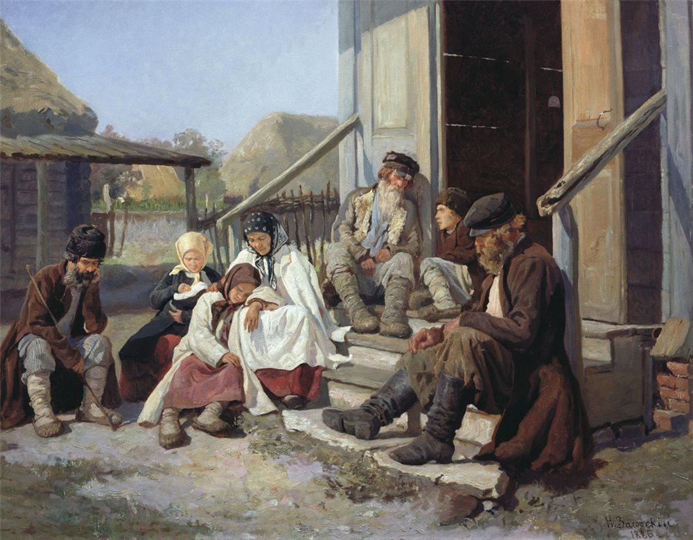 У земской больницы - Загорский Н. П. Государственная Третьяковская галерея.