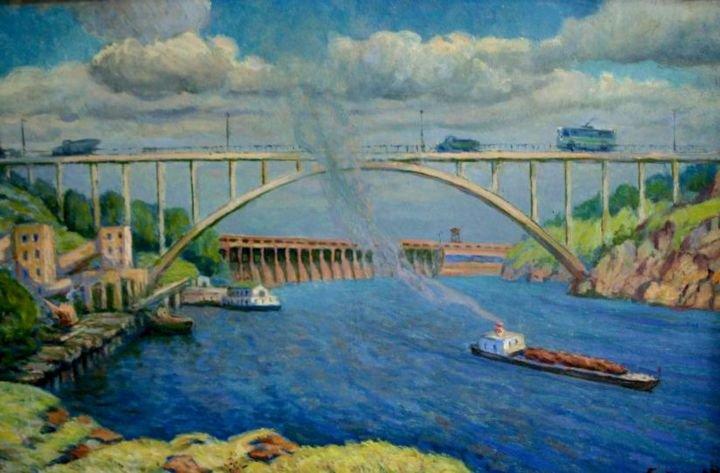 Борис Егоров. «Старая набережная Днепра» (1952 год).