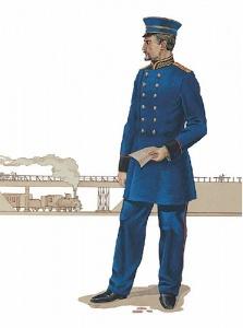Старший начальник дистанции пути, 1861 г. Форма железнодорожников во второй половине XIX века – начале XX века