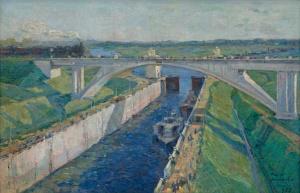 "Модоров Ф.А. ""Шлюз «Тушино» Канал Москва-Волга"" 1937"