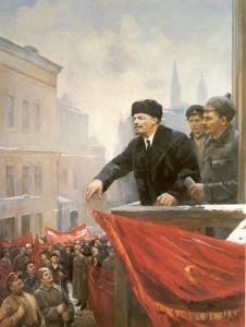 Выступление Ленина с балкона Моссовета в 1919 году. Налбандян Дмитрий Аркадьевич (1906 — 1973)