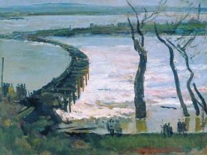 Герасимов Сергей Васильевич [1885—1964] Плотина. 1929