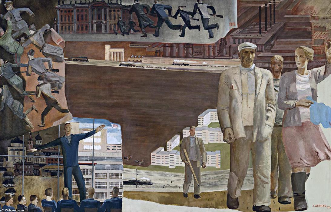 """""""Кто кого"""". Х., м. 129,5x200 ГТГ - Дейнека Александр Александрович. 1932"""