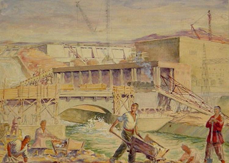 Чепраков Константин Павлович (1907-1972). Чирчикская ГЭС. Краеведческий музей города Чирчик