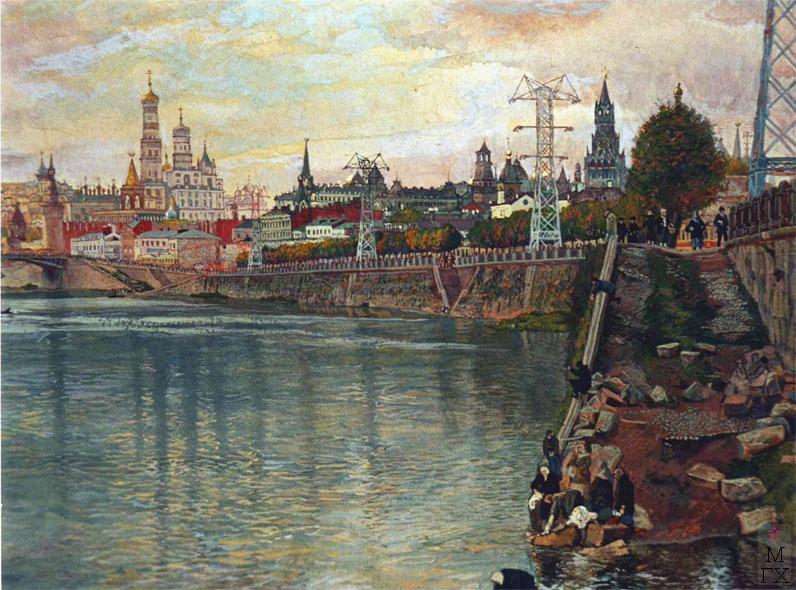 Климентов Михаил Иванович (1889-1969). Набережная Яузы. 20-е гг. Акварель