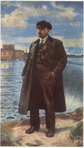 И. И. Бродский. В. И. Ленин на фоне Волховстроя. 1927