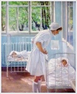 Лившиц Татьяна Исааковна (Россия, 1925-2010) «Утро. Медсестра Светлана Самохина»