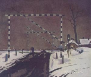 Оссовский Петр Павлович (Россия, 1925) «У переезда»