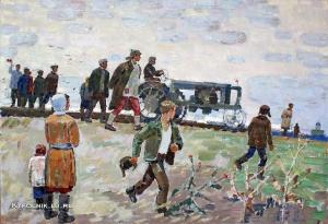 Шпонько Григорий Андреевич (1926-2005) «Первый трактор» 1970-е