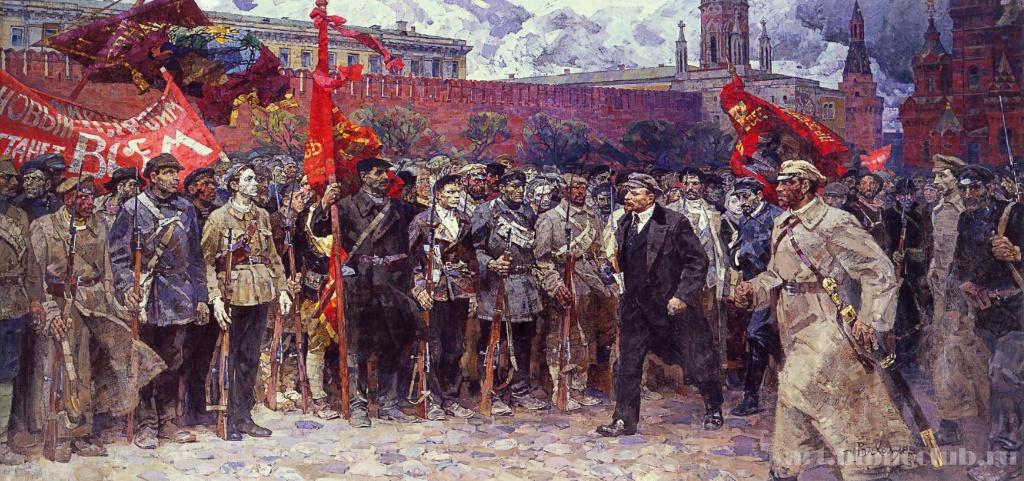 Солдаты революции. Автор Владимир Холуев. Год 1964