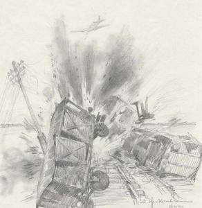 Яр-Кравченко Анатолий. Огненный таран Шаронова. 1944.