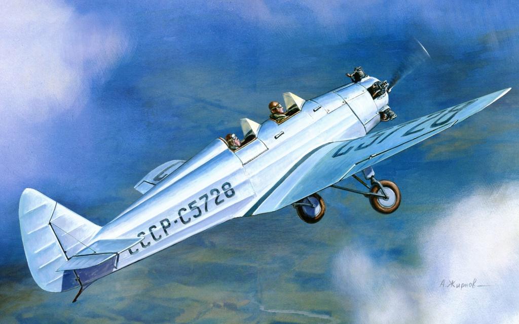 Жирнов Андрей. Учебный самолет УТ-2. (спарка).