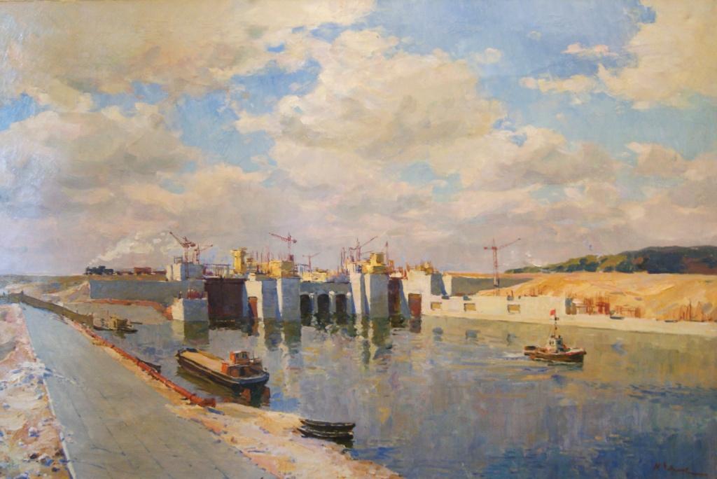 М.Чепик. Канал у плотины Волжской ГЭС